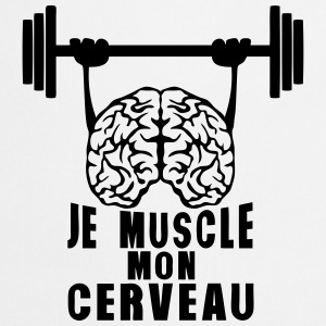 muscle cerveau cervelle citation haltere Tee shirts - Tablier de cuisine