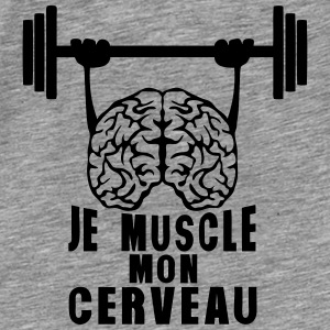 muscle cerveau cervelle citation haltere Sweat-shirts - T-shirt Premium Homme