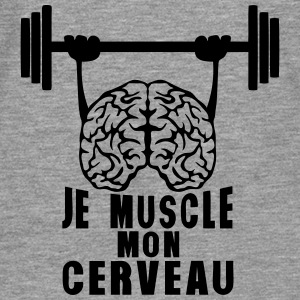 muscle cerveau cervelle citation haltere Sweat-shirts - T-shirt manches longues Premium Homme