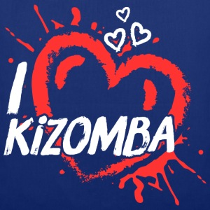 I love kizomba red & white heart - Tote Bag
