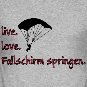 livelovefallschirm Pullover & Hoodies - Männer Slim Fit T-Shirt