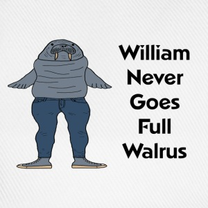 William the Walrus Women's T-shirt   - Baseball Cap