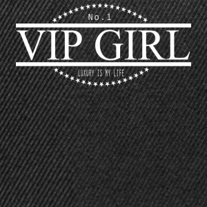 NO 1 VIP GIRL LUXURY IS MY LIFE white.png T-Shirts - Snapback Cap