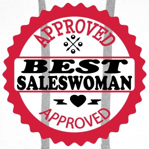 Approved best saleswoman T-Shirts - Men's Premium Hoodie