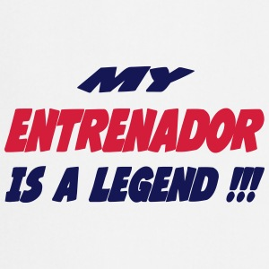 My entrenador is a legend !!! Camisetas - Delantal de cocina