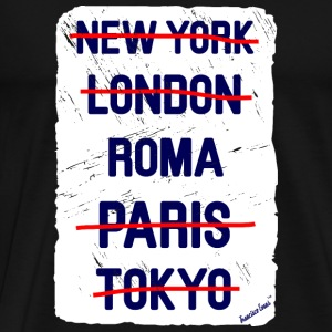 NY London Roma..., Francisco Evans ™ Vesker & ryggsekker - Premium T-skjorte for menn