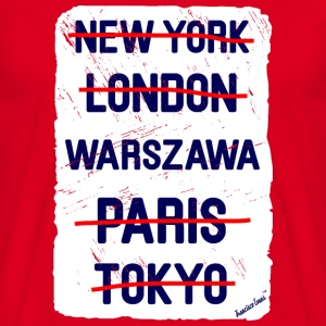 NY London Warszawa..., Francisco Evans ™ Mugs & Drinkware - Men's T-Shirt