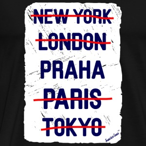 NY London Praha..., Francisco Evans ™ Vesker & ryggsekker - Premium T-skjorte for menn