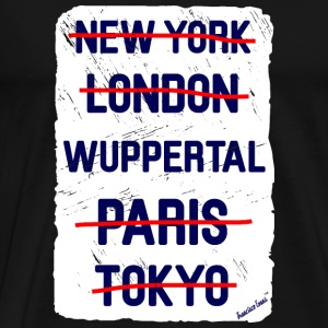 NY London Wuppertal..., Francisco Evans ™ Bags & Backpacks - Men's Premium T-Shirt