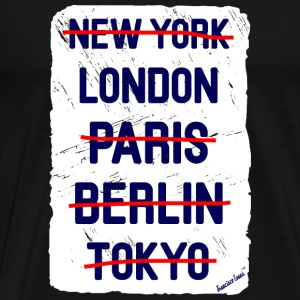 NY London..., Francisco Evans ™ Vesker & ryggsekker - Premium T-skjorte for menn