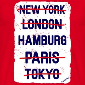 NY London Hamburg..., Francisco Evans ™ Tassen & rugzakken - Mannen T-shirt