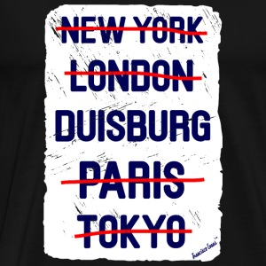 NY London Duisburg..., Francisco Evans ™ Bags & Backpacks - Men's Premium T-Shirt