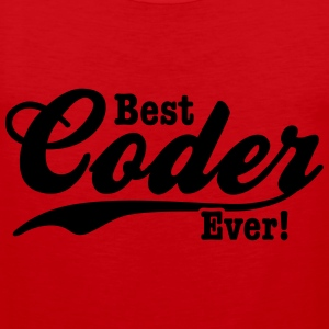coder T-Shirts - Men's Premium Tank Top