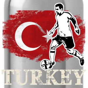 Soccer - Fußball - Turkey Flag T-shirts - Drinkfles