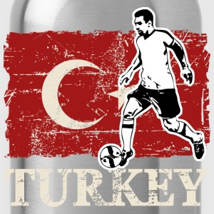 Soccer - Fußball - Turkey Flag T-Shirts - Water Bottle