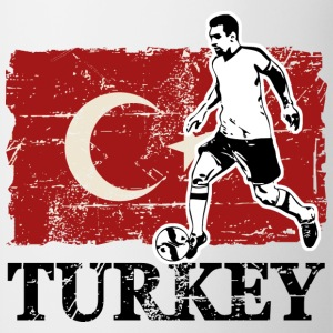 Soccer - Fußball - Turkey Flag T-Shirts - Mug