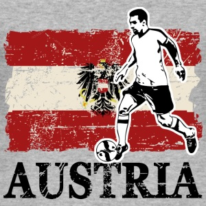 Soccer - Fußball - Austria Flag Hoodies & Sweatshirts - Men's Slim Fit T-Shirt