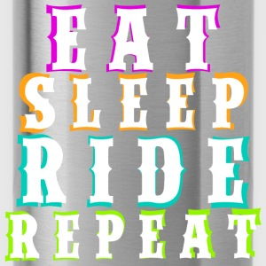 Eat Sleep Ride Repeat - White - Trinkflasche