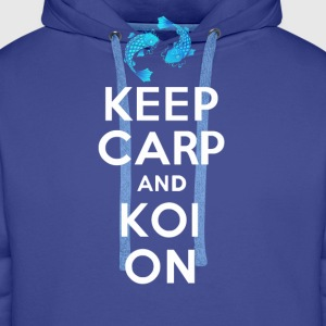 KEEP CARP AND KOI ON - Men's Premium Hoodie