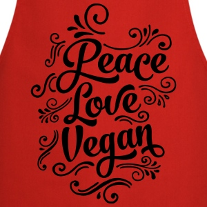 Peace - Love - Vegan T-Shirts - Cooking Apron