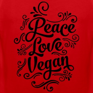 Peace - Love - Vegan Camisetas - Tank top premium hombre