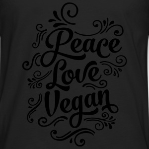 Peace - Love - Vegan T-Shirts - Men's Premium Longsleeve Shirt