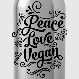 Peace - Love - Vegan T-Shirts - Water Bottle