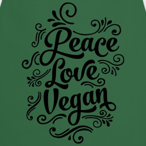 Peace - Love - Vegan Camisetas - Delantal de cocina