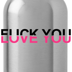 Fuck You  - Love You by MEOW T-Shirts - Water Bottle