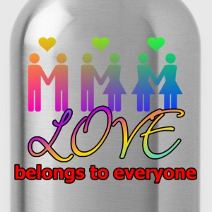 Love belongs to everyone - Trinkflasche