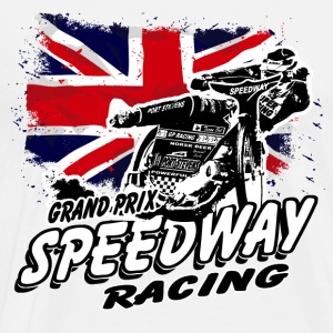 Speedway - Union Jack - UK Flag  Aprons - Men's Premium T-Shirt