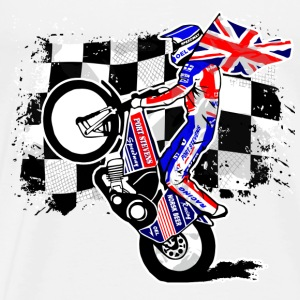 Speedway - Union Jack - UK Flag Sports wear - Men's Premium T-Shirt