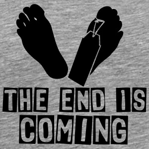 the end is coming foot das ende kommt Langarmshirts - Männer Premium T-Shirt