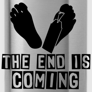 the end is coming foot das ende kommt Pullover & Hoodies - Trinkflasche
