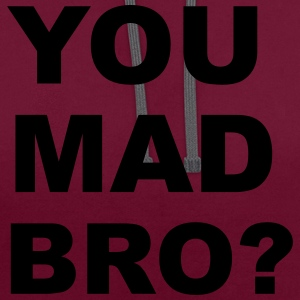 You Mad Bro? Bags & Backpacks - Contrast Colour Hoodie