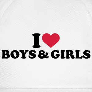 I love boys and girls T-Shirts - Baseballkappe