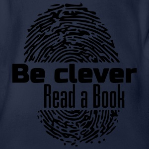 Be Clever - Read a Book Shirts - Organic Short-sleeved Baby Bodysuit