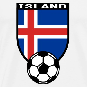 Island Fussball Fan Shirt 2016 Gensere - Premium T-skjorte for menn