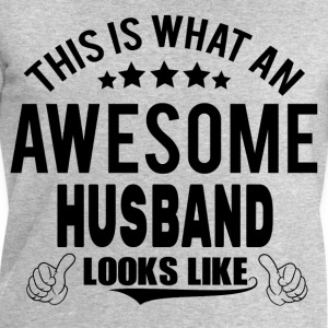 THIS IS WHAT AN AWESOME HUSBAND LOOKS LIKE T-Shirts - Men's Sweatshirt by Stanley & Stella
