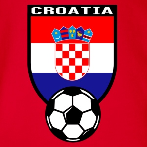 Croatia football fan shirt 2016 Shirts - Organic Short-sleeved Baby Bodysuit