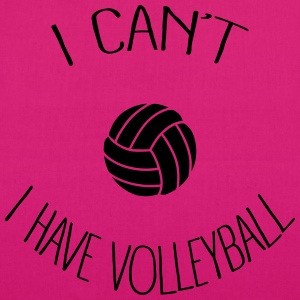 I can't I have Volleyball Sweat-shirts - Sac en tissu biologique