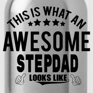 THIS IS WHAT AN AWESOME STEPDAD LOOKS LIKE T-Shirts - Water Bottle