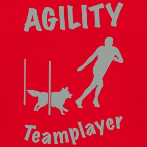 Agility Slalom Border Collie - Männer T-Shirt