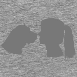 Dog and Woman Caps & Mützen - Männer Premium T-Shirt