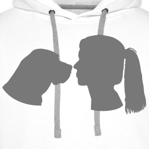 Dog and Woman T-Shirts - Männer Premium Hoodie