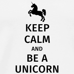keep calm and be a unicorn Krus & tilbehør - Herre premium T-shirt