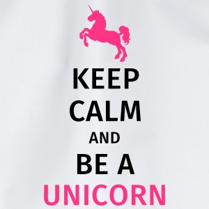 keep calm and be a unicorn Tassen & Zubehör - Turnbeutel