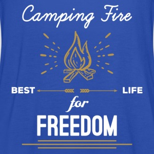 Camping Fire - Best Life For Freedom T-Shirts - Women's Tank Top by Bella