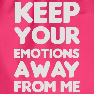 Keep your emotions away Tops - Drawstring Bag