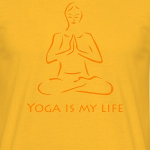Yoga is my life - Männer T-Shirt